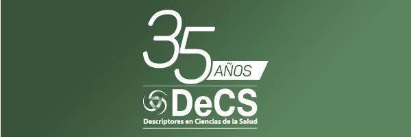 logo DeCS 35 años